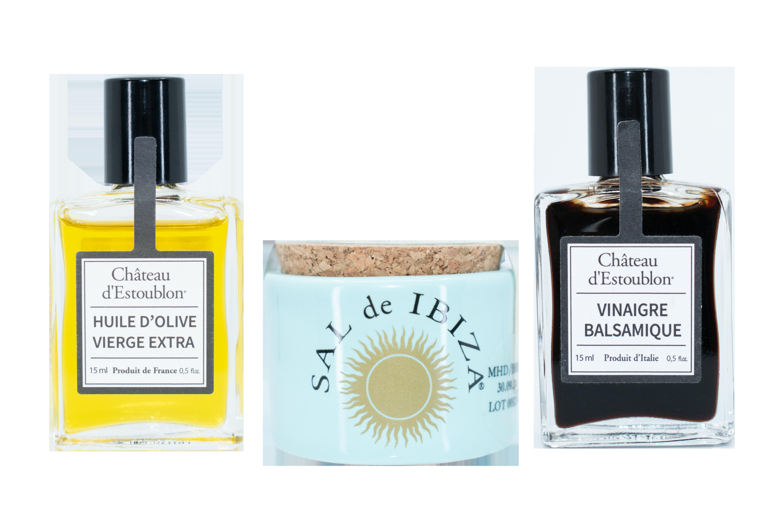 Öl, Balsamico & Salz